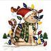 T-Shirts HOLIDAY & Seasonal Christmas Printed: ''Christmas Kitty''