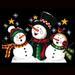 T-Shirts HOLIDAY & Seasonal Christmas Printed: ''Caroling Snowmen''
