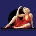 Apparel T-shirts Marilyn Monroe Designs: ''Red DRESS 11''
