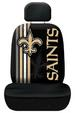 Rally Seat Cover & Plain Head Rest Cover - New Orleans SAINTS NFL