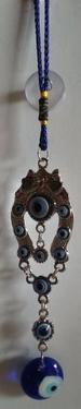 Evil Eye with Horse Shoe Plate Car Hanging DOOR Hanging Amulet
