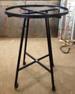 Black enamel round CLOTHING racks, used 2/13
