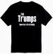 Wholesale Black T SHIRT THE TRUMPS PLUS size