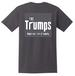 Wholesale Dark Gray color  T SHIRT THE TRUMPS