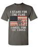 Wholesale Dark Gray color  T SHIRT Stand Flag Kneel Cross