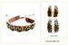 Wholesale Peace Sign Faux LEATHER Bracelet