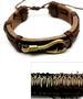 Wholesale Fish Hook Faux LEATHER Bracelet