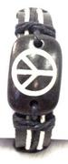 Wholesale PEACE Sign Leather Bracelets