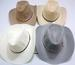 Wholesale White, Gray,Tan Summer Mesh COWBOY HAT