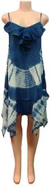 Wholesale Indian Rayon DRESS with Ruffle Bottoms Blue Color
