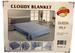 Wholesale One Ply Plain Light Blue Color Queen size BLANKET