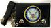 Official LICENSED Navy Circle Seal Tri Fold Leather Wallet