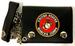 Official LICENSED US Marine Trifold leather chain wallet