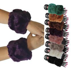 Faux Fur Short Wrist Cuff  Warmers