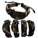 LEATHER Bracelet with Horn