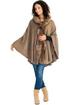 Hoodie Poncho (Rosy Brown)
