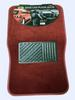 Car FLOOR MATs 4pc Full Set Carpet FLOOR MATs for Car Burgundy