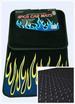 Car FLOOR MATs 4pc Full Set Carpet FLOOR MATs for Car Flame Style