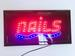 LED Sign Light NAILS 19'' X 10'' On/off with Chain