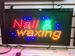 LED Sign Light NAIL & Waxing 19'' X 10'' On/off with Chain