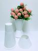Plastic Flower VASE White D7.5' X H11.5'
