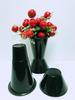 Plastic Flower VASE Black D7.5' X H11.5'