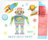 Large 21 Piece Robot / Space MAGNET Set