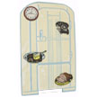 REFRIGERATOR MAGNET Board with MAGNETs - Set of 5