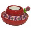 RED HAT Tea Light Holder - Flower