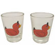 Hipster's Choice© Devil Duck Shot GLASSES - Set of Two