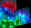 Light Up - Flashing Slotted Colored GLASSES   $1.2625