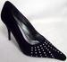 Womens Evening SHOES In Black Velvet With Rhinestones