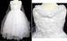 Girlrs All-White Pageant DRESS - Sizes: 2 Thru  8