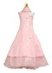 Girls Evening DRESS With Scarf -  Pink Color . Sizes: 2-12