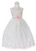 Girls Fancy  Sleeveless DRESS In Embroidered Organza (2 Thru 12)