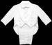 Boys 5Pc White Tuxedo With Vest & COAT Tail (Infant)