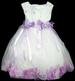 Girls Embroidered Organza DRESS With Silk Petals - Lavender (9-24