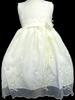 Girls Fancy  DRESS In Embroidered Organza - Beige (Sizes: 2-8)