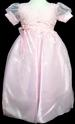 Girls Long Flower Girl DRESS With Embroidered Top - Pink