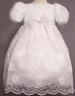Girls All-White Pageant DRESS With Cutwork Embroideries (S-XL)