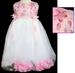 ''Flora II'' Girls Pageant DRESS With Silk Petals - Pink (1-6)
