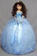 ''Quinceanera''  Porcelain Doll - 16''  -  Baby Blue (USA)