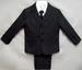 Boys 5Pc DRESS Suits - Charcoal Grey- Sizes: 4-7 ( # 5956CG)