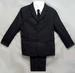 Boys 5Pc DRESS Suits - Charcoal Grey - Sizes: 8 - 14  ( # 5956CG)