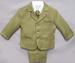 Boys 5Pc Vested DRESS Suit - Infant Sizes  - Olive Color