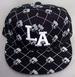''Los Angeles'' Flat Brim Embroidered  FITTED CAP