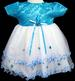 Gilrs Party DRESS - Infant Sizes - Aqua Color