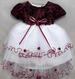 Girls Frilly Holiday DRESS - Burgundy Color  (6-24 Mos)