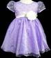 Girls Polka Dots Fancy Organza DRESS - Lavender - (Sizes: 3-6)