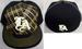 ''Los Angeles'' Flat Brim Embroidered FITTED CAPs - Gold